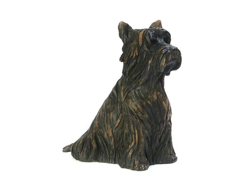 Beautiful figurine Yorkshire Terrier dog urns for pet Yorkie dog ashes. Can be personalised.