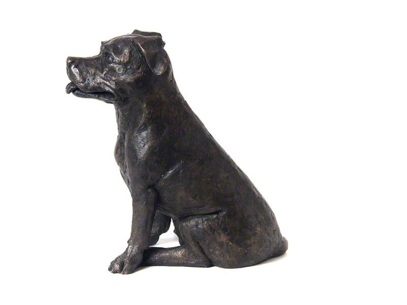 Beautiful figurine Staffordshire Bull Terrierdog urns for pet Staffie dog ashes. Can be personalised.