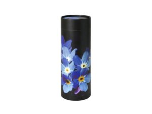 Scatter Tube pet ashes scattering urn in forget-me-not design